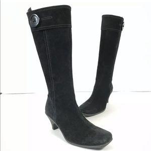 La Canadienne Black Suede Waterproof Boots Shoes